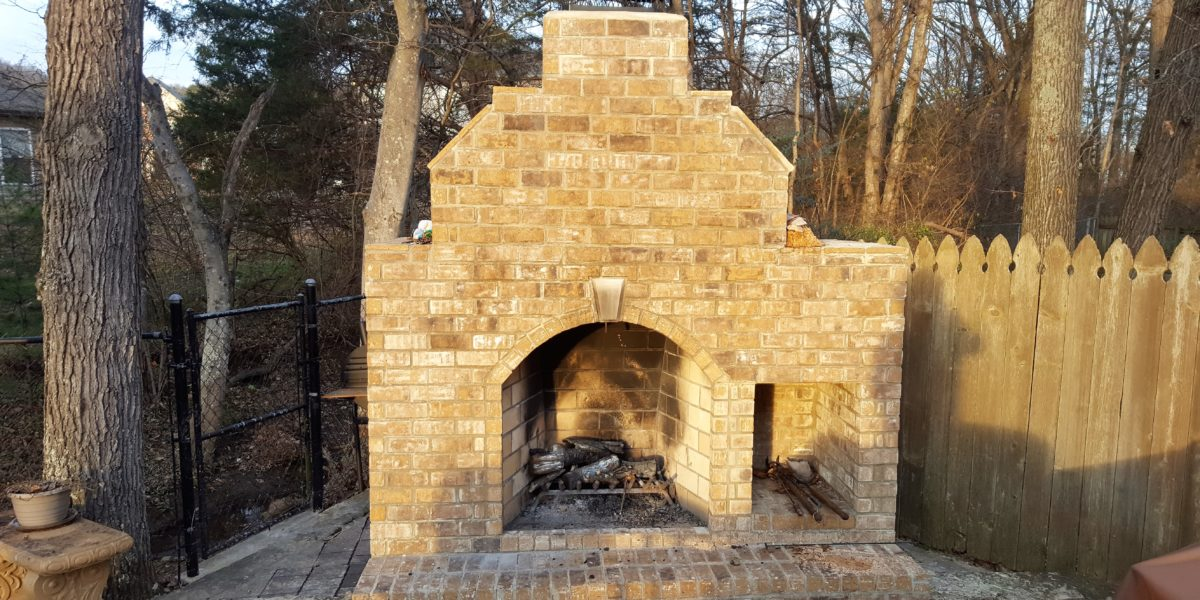 Brick Outdoor Fireplace Excel Builders Of Tennessee
