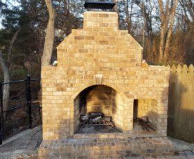 Brick Outdoor Fireplace